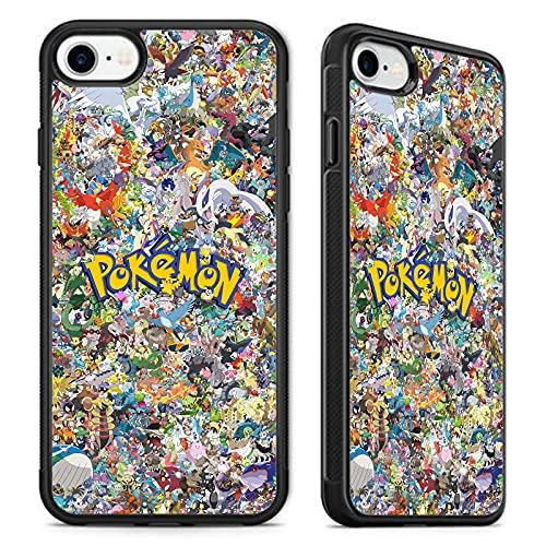 Coque en caoutchouc pour iPhone 6/6S/7/8/SE Motif collage Pokémon