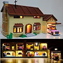 brickled Light Kit for Lego The Simpsons House 71006 (lego set not included)