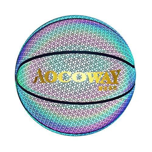 Best Deals! YZPXDD Holographic Glowing Reflective Basketball Mens Official NBA Size 29.5 Size 6 Wome...