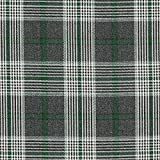 Fabulous Fabrics Anzugstoff Glencheck – anthrazit/grün