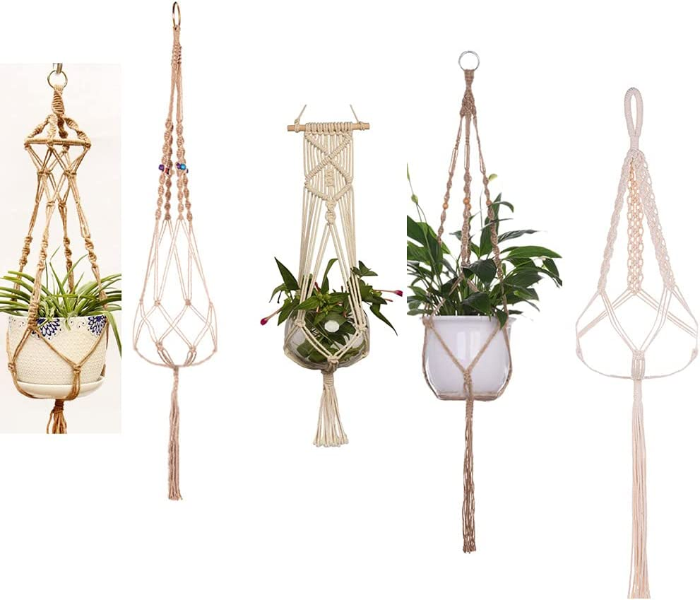 Mindore 5 Pack Plant Hangers Outdoor Indoor Tier Hangi Recommendation Different [Alternative dealer]