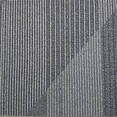Baldosas De Alfombra De 60,96 * 60,96 Cm, Baldosas De Piso De Gradiente De Línea De Polipropileno con Fondo De PVC, Antideslizantes Y Resistentes Al Desgaste (4Pcs),E