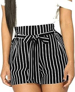 ZEFOTIM High Waisted Short, Elastic Waist Front Pockets Shorts for Women Casual Sexy Hot Pants with Belt,2019 New Hot Shorts