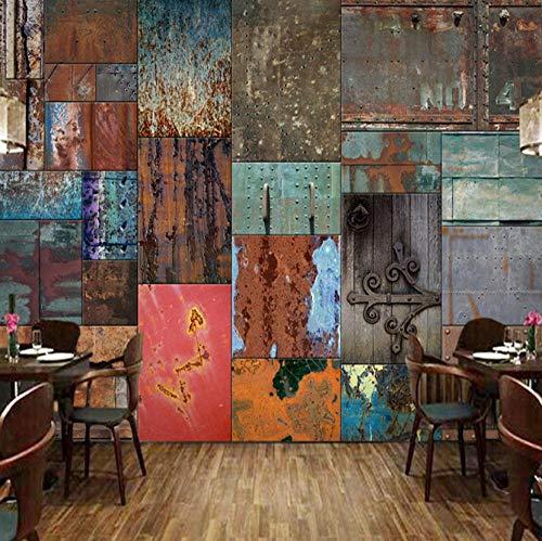 sswyfc 3D behang vintage hout vezel muurschildering restaurant club ktv bar interieur behang