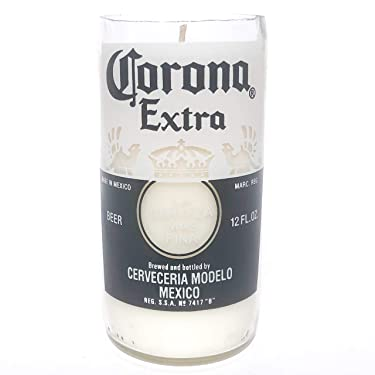 Winecraft Recycled Corona Beer Bottle Candle - Piña Colada