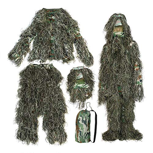 UK SELLER BURLAP GHILLIE SUIT 3D CAMO WOODLAND SHOOTING / PHOTOGRAPHY CAMOUFLAGE