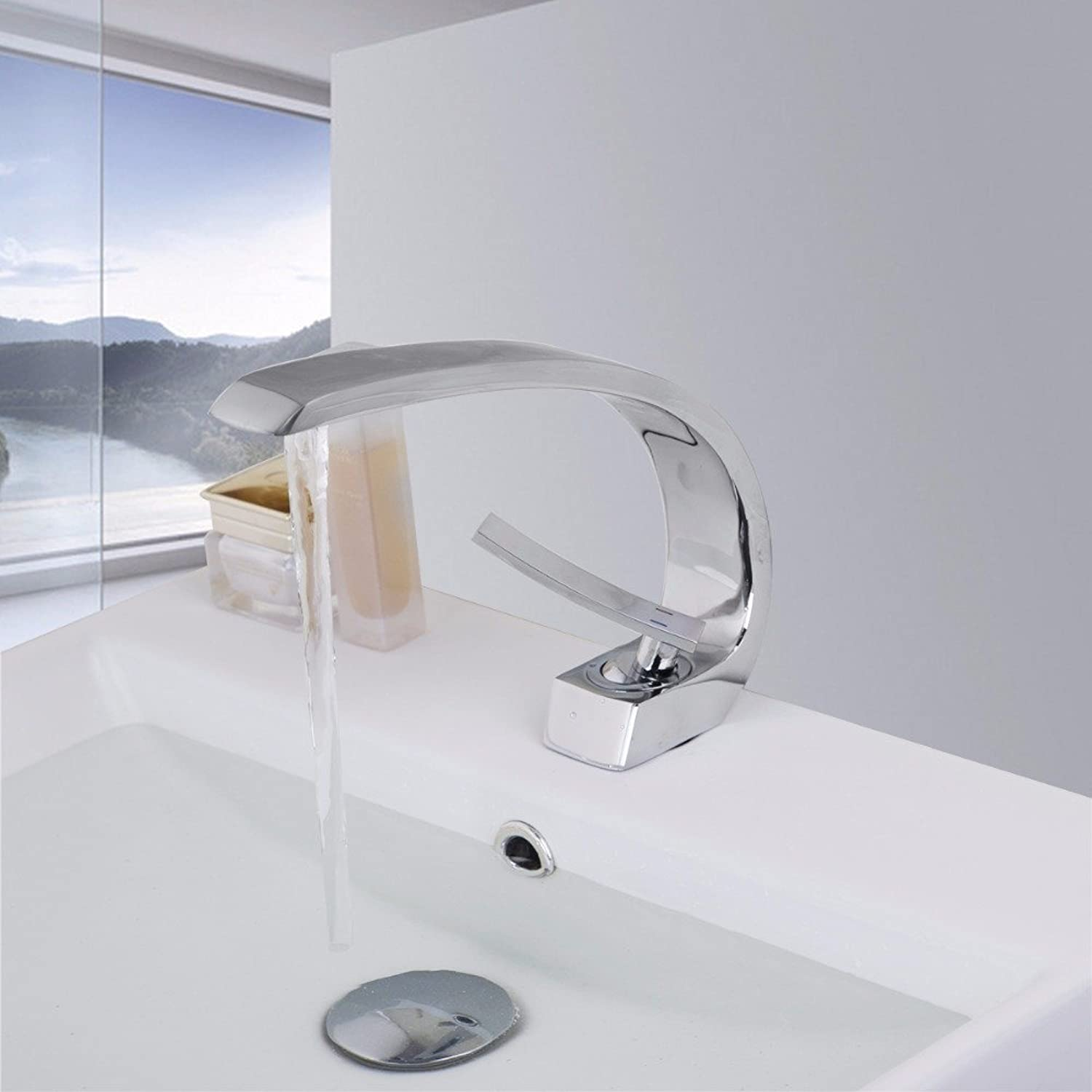 Tourmeler Hot Selling Kitchen Bathroom Sink Basin Mixer Tap Chrome Swivel With Long Arm Brass Faucet