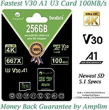 256GB Micro SD Card Plus Adapter. Amplim MicroSD SDXC...