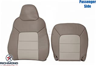 Richmond Auto Upholstery 2003-2006 Ford Expedition - Passenger Side Complete Top & Bottom Replacement Leather Seat Cover, 2-Tone Tan