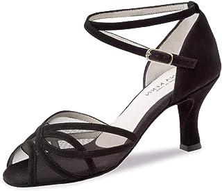 Anna Kern Femmes Chaussures de Danse 740-60 - Suede Noir - 6 cm Flare