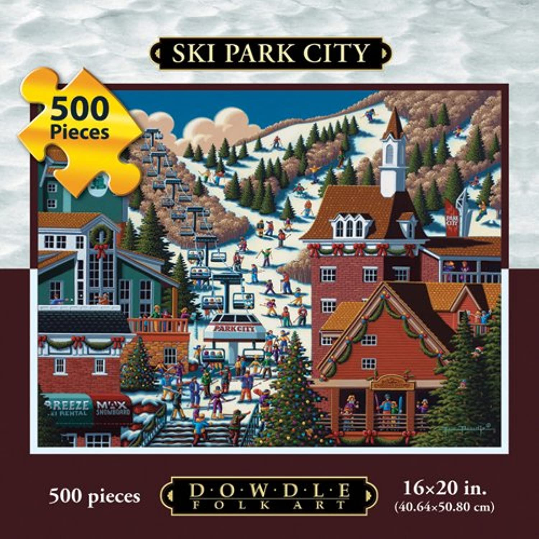 Jigsaw Puzzle - Ski Park City 500 Pc By Dowdle Folk Art by Dowdle Folk Art B004V0I04I Verkauf Online-Shop | Offizielle Webseite
