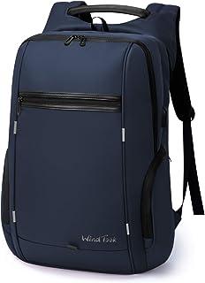 Mochila Portátil Mochila Trabajo Hombre Impermeable con USB Gran Capacidad Mochila para Ordenador Portatil 17 Pulgadas Multifunciona Maletín Dackpack para Trabajo Viaje 33 x 18 x 49CM Azul