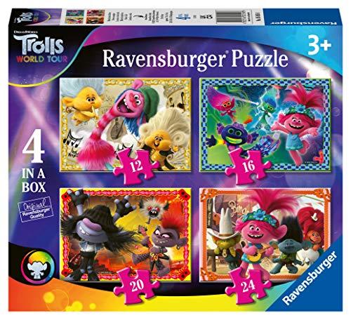 Ravensburger Trolls 2 World Tour Puzzle 4 in a Box, Color (05059)