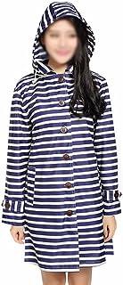 レインコートウインドブレーカー女性ハイキングパーソナリティ防水通気性ロングセクションツーリズムウォーターコート薄型セクションポンチョ ( 色 : 濃紺 )