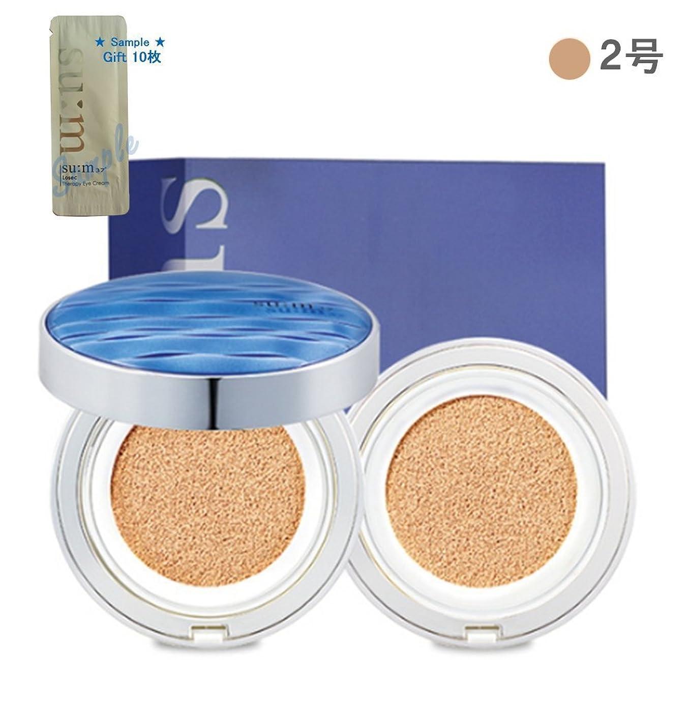 認める謙虚ぜいたく[su:m37/スム37°]Water Full CC Cushion Perfect finish No. 2 (SPF50+/ PA+++) / 水プールCCクッションパーフェクトフィニッシュ2号 +[Sample Gift](海外直送品)