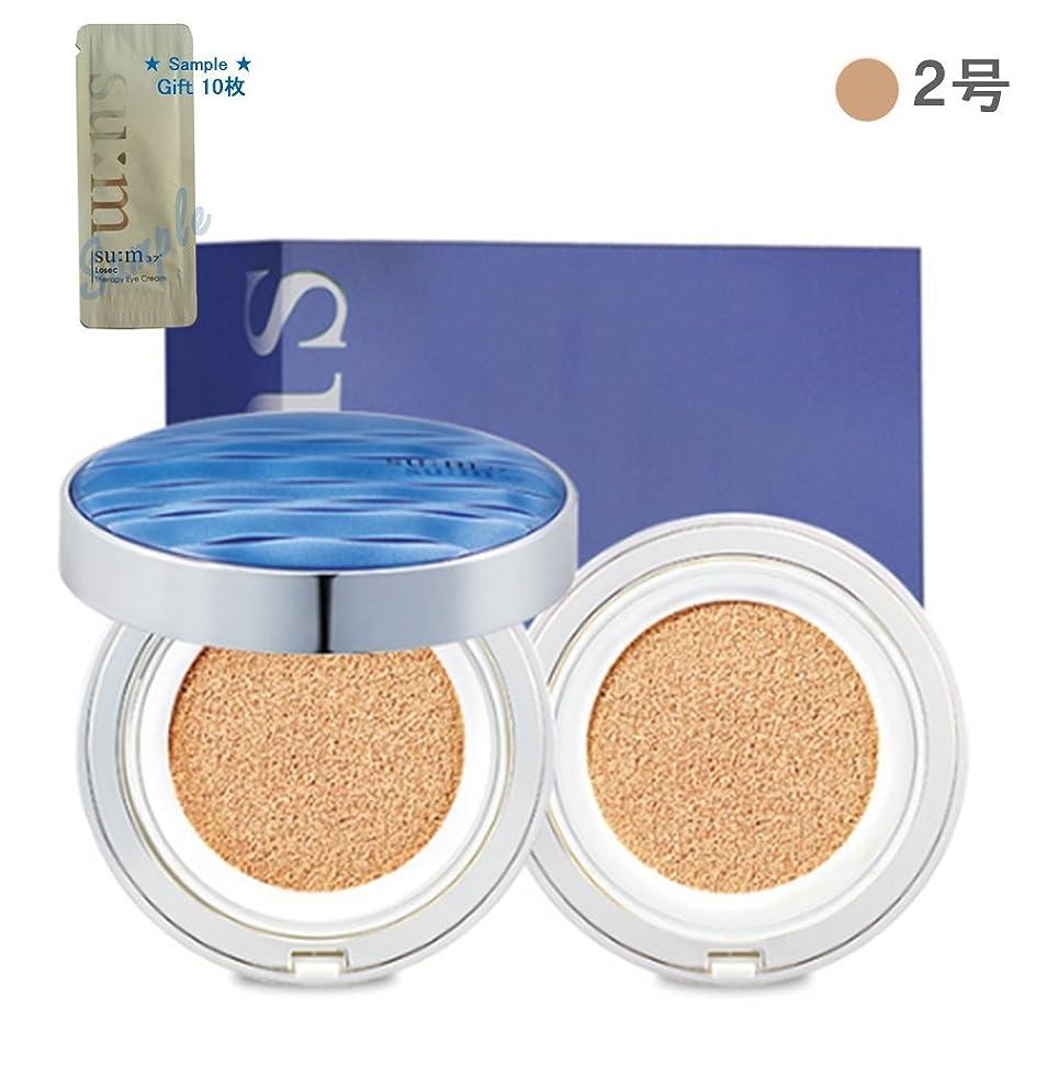 葡萄直感当社[su:m37/スム37°]Water Full CC Cushion Perfect finish No. 2 (SPF50+/ PA+++) / 水プールCCクッションパーフェクトフィニッシュ2号 +[Sample Gift](海外直送品)