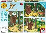 Schmidt Spiele-The Gruffalo Puzzle Infantil Piezas, Color carbón, Wer Hat Angst vorm Grüffelo, 3 x 48 Teile (56211)