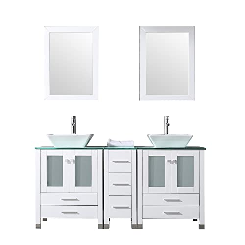Miraculous Double Bathroom Vanity And Sink Combo Amazon Com Home Interior And Landscaping Ologienasavecom