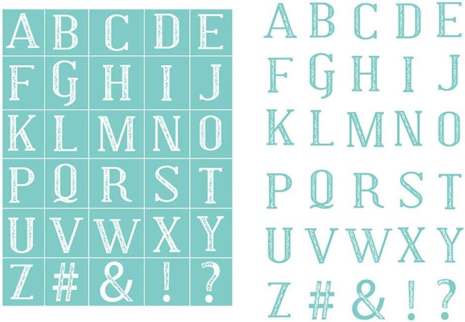 Superior Longan Craft Silk Screen Printing Letters Self-Adhesive Max 40% OFF Stencil
