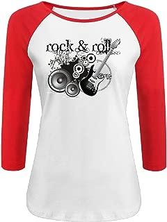 Women's Rock & Roll 3/4 Sleeve Raglan Baseball T Shirt