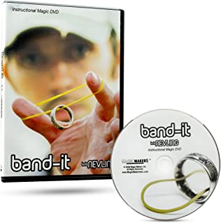 Band-It Instructional Magic DVD with Magician Kris Nevling - Ultimate Rubber Band & Ring Illusion Magic Trick