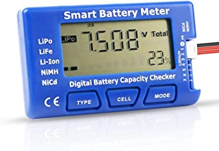 Digital RC Battery Capacity Tester, 5 in 1 Smart Battery Meter, Esc Tester Capacity Checker For 1-7S LiPo Life Li-ion NiMH Battery