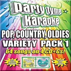 Party Tyme Karaoke - Pop, Country, Oldies Variety Pack 1 (4CD+G) [64-Song Party Pack]