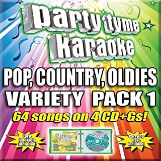 Party Tyme Pop, Country, Oldies Variety Pack 1 G  64-Song Party Pack