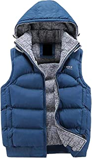 Macondoo Men Warm Packable Hooded Winter Puffer Outwear Down Vest Coat
