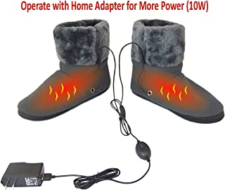 ObboMed MF-2305L Far Infrared Carbon Fiber Heated Foot Warmer/Boots/Slipper, USB 5V 10W – Far Infrared Wavelength 8-15 μm (Health Range: 4-14 μm), Auto Off, Size L: #45.5 (fits Foot up to 45.5)