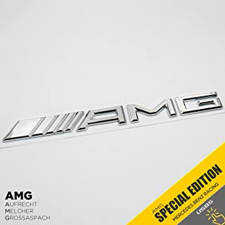 Mercedes-Benz AMG Emblem 3D ABS Black Trunk Logo Badge Decoration Gift (Chrome)