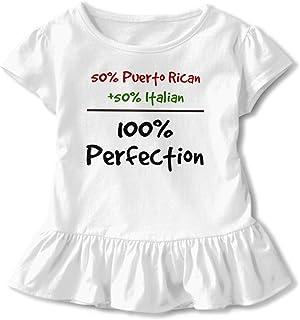 Puerto Rico Se Levanta Toddler Girls T Shirt Kids Cotton Short Sleeve Ruffle Tee
