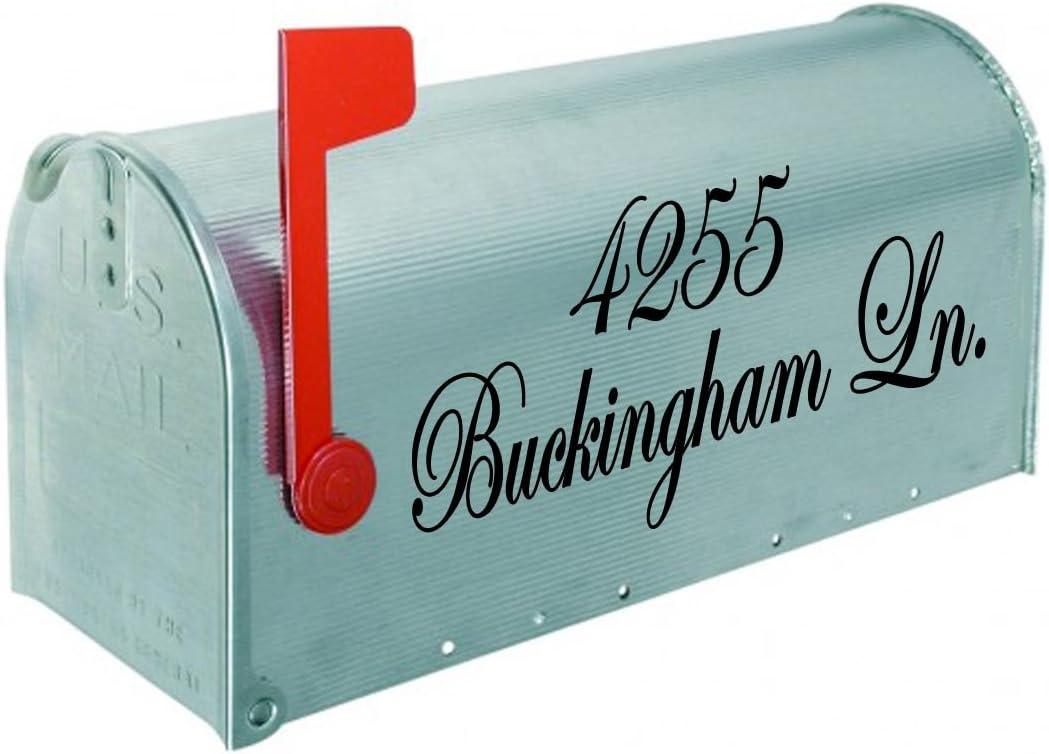 VWAQ quality assurance Custom Mailbox Decals With Address Max 53% OFF Name Per Street