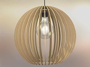 Lampadario Lampada sospensione Paralume rustico moderno in legno - Design Sfera