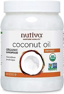 Nutiva Organic Steam-Refined Coconut Oil, 54 Fluid Ounce | USDA Organic, Non-GMO, Fair Trade | Vegan, Keto, Paleo | Neutra...