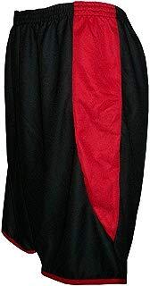 Calção modelo Copa Preto/Vermelho