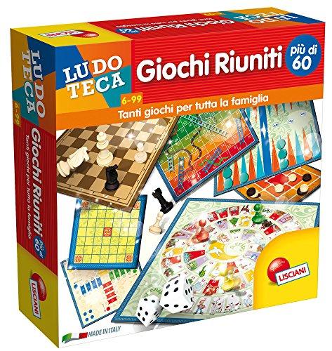 Lisciani Giochi- Giochi Riuniti più di 60 Gioco, Multicolore, 57023