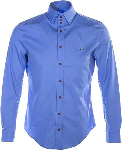 Vivienne Westbois 3 Button Slim Shirt in Sky