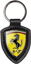 Scuderia Ferrari F1 Leather Shield Keychain
