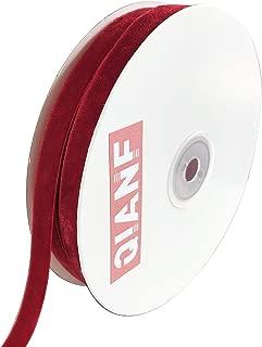 thick red velvet ribbon