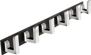 DOCOSS -Premium Classic Black- 6 Pin Bathroom Cloth Hooks Hanger Door Wall Bedroom Bathroom Robe Hooks Rail for Hanging Keys,Clothes,Towel Steel Hook (Black)