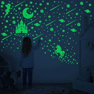 Toyvian Glow in The Dark Stars Stickers for Ceiling Luminous Wall Stickers,282pcs Bright and Realistic Stars and Full Moon...
