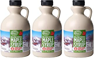 100% Pure Maple Syrup From Vermont, Grade A, Amber Color, Rich Taste, All Natural, Easy Pour Jug, 32 Fl Oz, 1 Qt (3 pack)