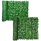 DINGFAN Seto Artificial Extensible, Protección de Balcón con Follaje de Valla Artificial, Seto de Privacidad para Jardín, para Protección de Balcón, Decoración de Patio, Muro de Boda