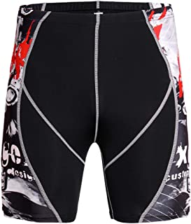 HOOLAZA Men Compession Tights Sports Shorts Training Running Workout Pants