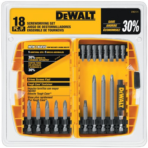 DEWALT Screwdriver Set, 18-Piece (DW2174)