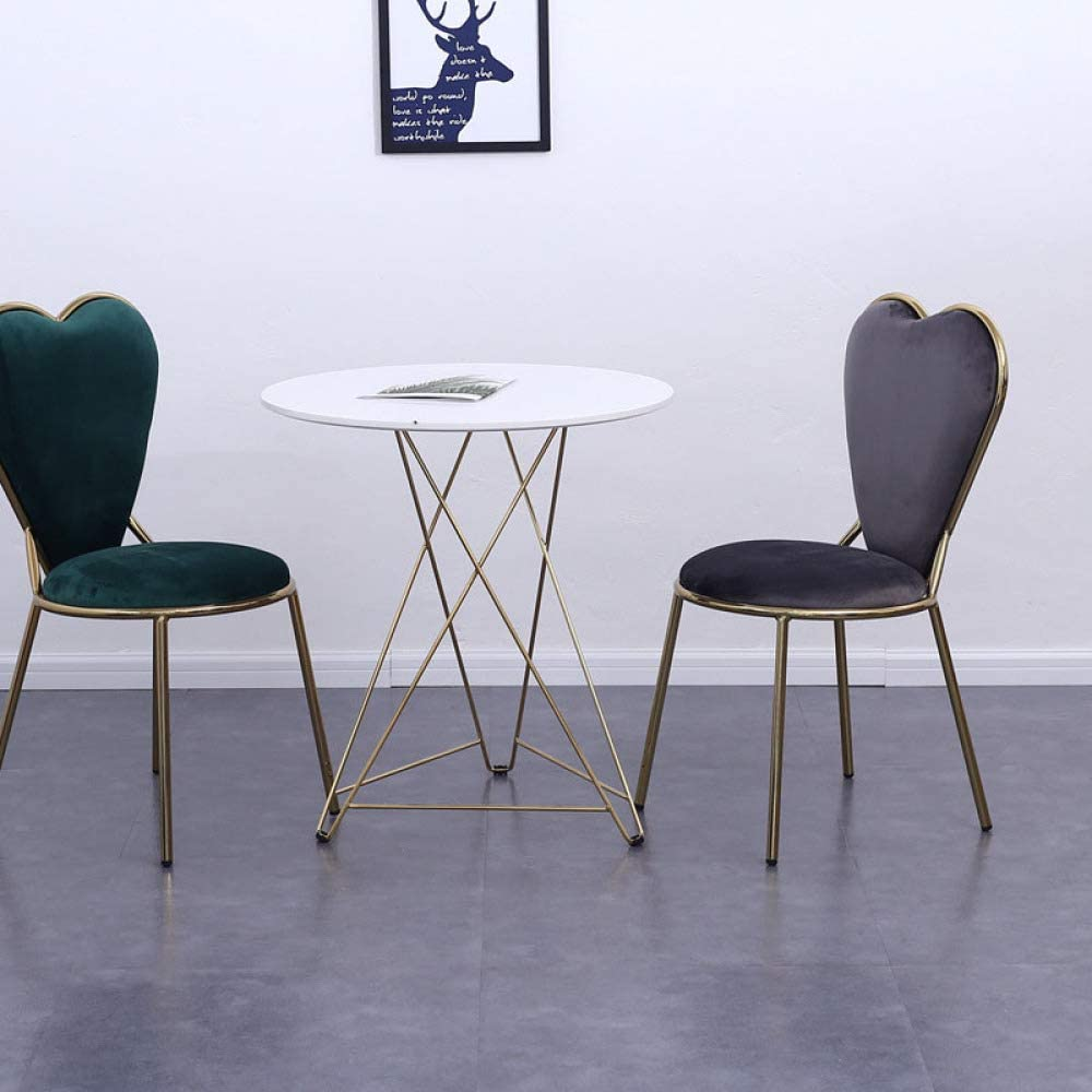 YAHAO Chaises De Salle à Manger, Waiting Chair, Dining Chairs, Leisure Chair, Kitchen,Grey Grey