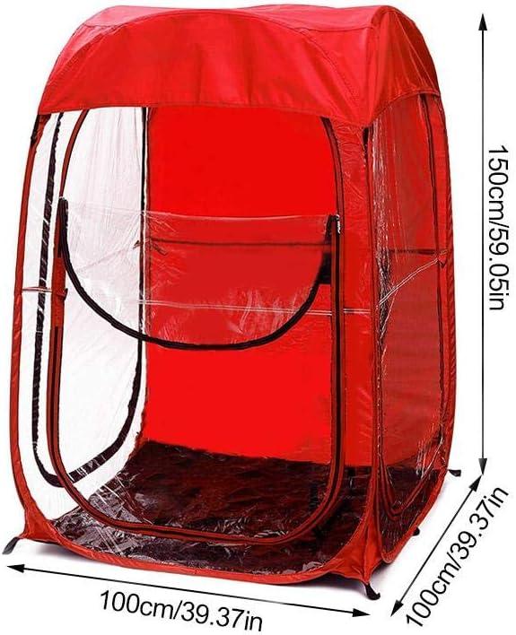 Double Auvent L/éger pour la P/êche Sunneey Portable Tente de Camping /Étanche Ext/érieur Tentes de Toilette Rouge//Noir//Bleu Facile /à Installer Abri de Plein Air 100 x 100 x 150 cm