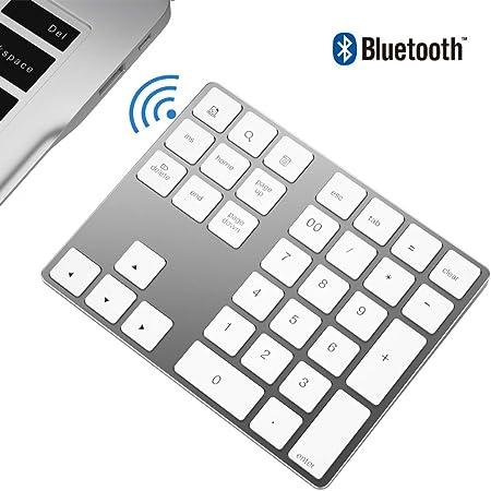 Zienstar-Teclado Numérico Bluetooth,Externo Inalámbrico de 34Teclas con Múltiples Accesos Directos para Computadora Portátil Surface Pro Apple iMac ...