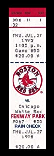 1995 Red Sox v White Sox Full Ticket 7/27/95 Frank Thomas HR 24884 - MLB Unsigned Miscellaneous